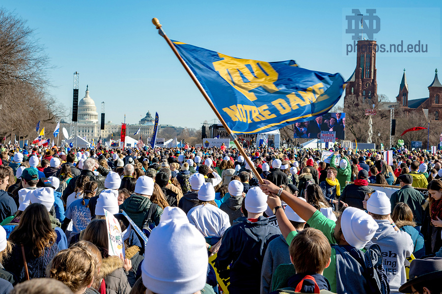 January 19, 2018; March for Life in Washington D.C.. (Photo by Matt Cashore/University of Notre Dame)
