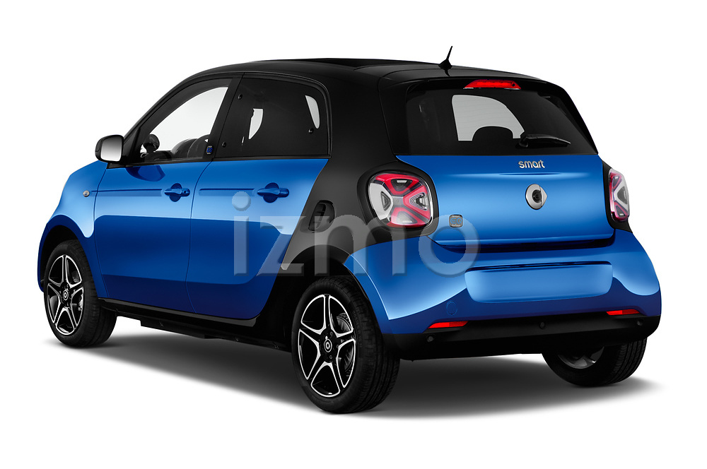 Car pictures of rear three quarter view of 2020 Smart EQ-forfour Comfort-Plus 5 Door Hatchback Angular Rear