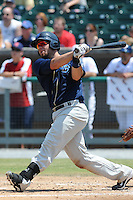 Mobile BayBears Josh Ford #30 swings at a pitch during a game against the Tennessee Smokies at Smokies Park in Kodak,  Tennessee;  May 22, 2011.  The Smokies won the game 4-2.  Photo By Tony Farlow/Four Seam Images