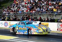 May 20, 2011; Topeka, KS, USA: NHRA pro stock driver Greg Stanfield during qualifying for the Summer Nationals at Heartland Park Topeka. Mandatory Credit: Mark J. Rebilas-
