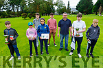Winners at the Pitch and Putt Championship in Tralee on Saturday. L to r: Jayden Chute, Sophie and Ella Moynihan, Kevin and Bobby McCarran, Noah Sexton, Fintan Martin and Brian Neason