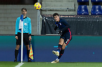 WIENER NEUSTADT, AUSTRIA - : Giovanni Reyna #7 of the United States crosses the ball during a game between  at Stadion Wiener Neustadt on ,  in Wiener Neustadt, Austria.