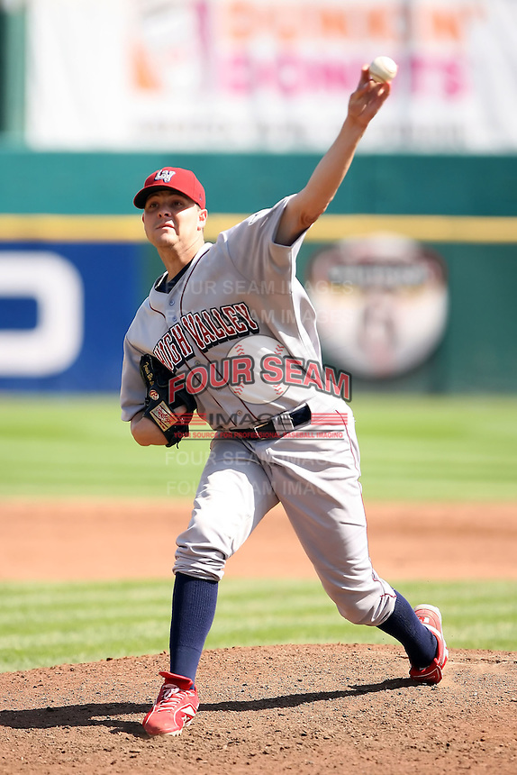 August 22 2008:  Pitcher Travis Blackley of the Lehigh Valley IronPigs, Class-AAA affiliate of the Philadelphia Phillies, during a game at Dunn Tire Park in Buffalo, NY.  Photo by:  Mike Janes/Four Seam Images