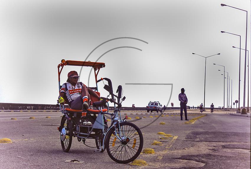 rest of Riksho in Havana Cuba