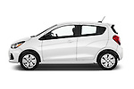 Car Driver side profile view of a 2016 Chevrolet Spark LS Manual 1SA 5 Door Hatchback Side View
