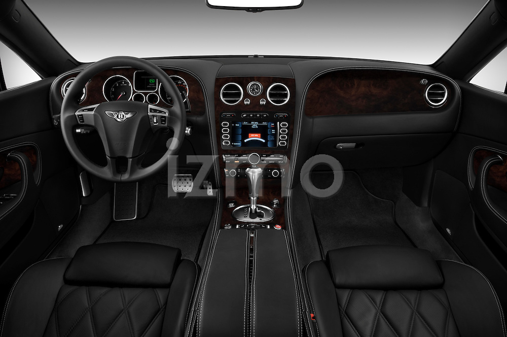 Straight dashboard view of a 2008 - 2012 Bentley Continental GT Speed Coupe.