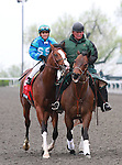 15 April 2011.  #5 Get Stormy and Javier Castellano win the Makers Mark at Keeneland Racecourse.