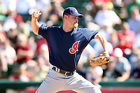 March 10,2009: Pitcher Kerry Wood (34) of the Cleveland Indians at Tempe Diablo Stadium in Tempe, AZ.  Photo by: Chris Proctor/Four Seam Images
