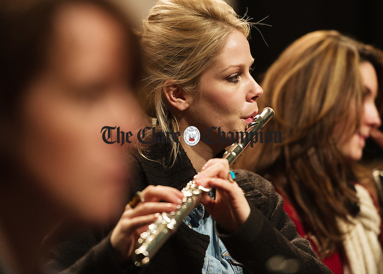 Emer Mc Geown in rehearsals for the Clare Memory Orchestra's production of The Clare Concerto which is on in Glor on November 8th. Photograph by John Kelly.