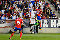 Harrison, NJ - Friday Sept. 01, 2017: Jozy Altidore, Bryan Oviedo during a 2017 FIFA World Cup Qualifier between the United States (USA) and Costa Rica (CRC) at Red Bull Arena.