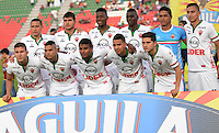 IBAGUÉ -COLOMBIA, 12-08-2015. Jugadores del Patriotas FC posan para una foto previo al encuentro con Deportes Tolima por la fecha 16 de la Liga Aguila II 2016 jugado en el estadio Manuel Murillo Toro de la ciudad de Ibagué./ Players of Patriotas FC pose to a photo prior the match against Deportes Tolima for the date 16 of the Aguila League II 2016 played at Manuel Murillo Toro stadium in Ibague city. Photo: VizzorImage / Juan Carlos Escobar / Str