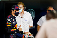 27th March 2021; Sakhir, Bahrain; F1 Grand Prix of Bahrain, Qualifying sessions;  VERSTAPPEN Max (ned), Red Bull Racing Honda RB16B takes pole during Formula 1 Gulf Air Bahrain Grand Prix 2021 from March 26 to 28, 2021 on the Bahrain International Circuit, in Sakhir, Bahrain