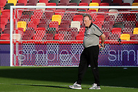 Middlesbrough Manager, Neil Warnock, takes a look at Brentford's new stadium ahead of kick-off during Brentford vs Middlesbrough, Sky Bet EFL Championship Football at the Brentford Community Stadium on 7th November 2020