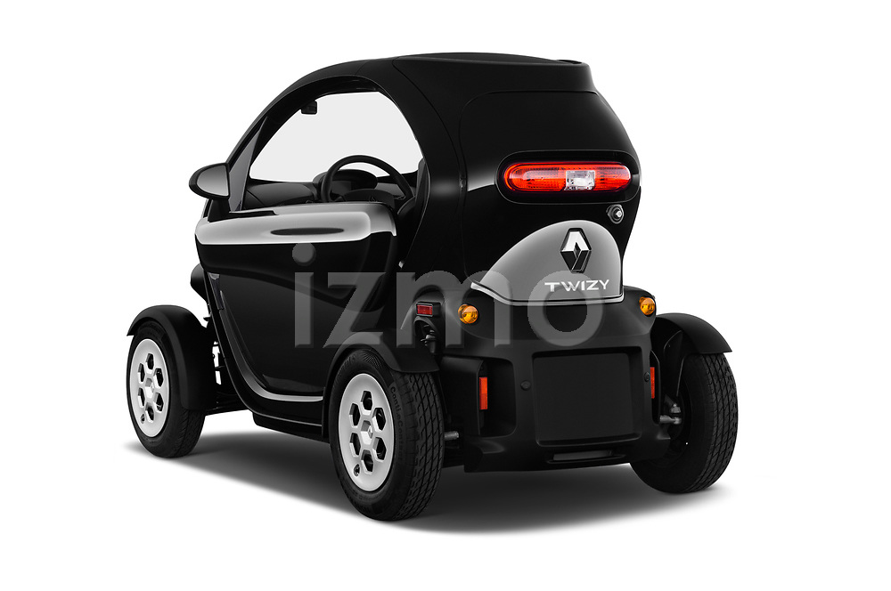 Car pictures of rear three quarter view of a 2018 Renault Twizy Cargo 3 Door Hatchback angular rear