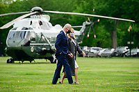 U.S. President Joe Biden and First Lady Jill Biden arrive to the White House Ellipse on Marine One after a visit to Virginia, in Washington, D.C., U.S., on Monday, May 3, 2021. Biden's $4 trillion vision of remaking the federal government's role in the U.S. economy is now in the hands of Congress, where both parties see a higher chance of at least some compromise than for the administration's pandemic-relief bill. <br /> CAP/MPI/RS<br /> ©RS/MPI/Capital Pictures
