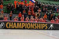 SPEEDSKATING: HAMAR: 01-03-2020, ISU World Speed Skating Championships, Kleintje Pils Pretband, ©photo Martin de Jong