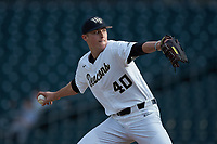 Wake Forest Demon Deacons relief pitcher Cole McNamee (40) in action against the Furman Paladins at BB&T BallPark on March 2, 2019 in Charlotte, North Carolina. The Demon Deacons defeated the Paladins 13-7. (Brian Westerholt/Four Seam Images)