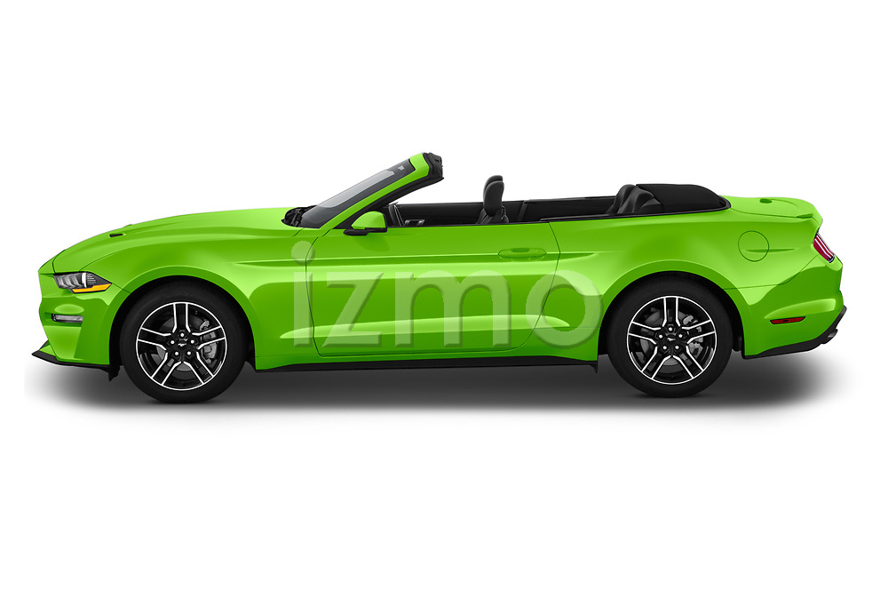 Car Driver side profile view of a 2020 Ford Mustang EcoBoost-Premium 2 Door Convertible Side View