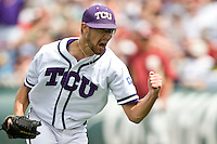 TCU's starting pitcher Matt Purke against Florida State in Game 1 of the NCAA Division One Men's College World Series on Saturday June 19th, 2010 at Johnny Rosenblatt Stadium in Omaha, Nebraska.  (Photo by Andrew Woolley / Four Seam Images)