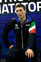 Manuel Bortuzzo<br /> Rome March 13th 2019. Manuel Bortuzzo, promising swimmer who was shot in front of a nightclub, returns to his swimming pool at Ostia Federal Swimming Centre. The 19 years old guy was shot by mistake in front of a nightclub last February 2nd and is paralysed from the waist down since then. <br /> Foto Samantha Zucchi Deepbluemedia/ Insidefoto