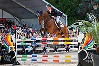 GBR-Tom McEwen rides Toledo de Kerser during the Show Jumping for the CCI5*-L. Final-1st. Les 5 Etoiles de Pau. Pyrenees Atlantiques. France. Sunday 27 October. Copyright Photo: Libby Law Photography