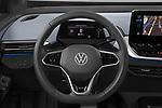 Car pictures of steering wheel view of a 2021 Volkswagen ID.4 First-Edition 5 Door SUV Steering Wheel
