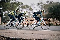 Abi Van Twisk (UK/Trek-Segafredo), Anna Plichta (POL/Trek-Segafredo) & Trixi Worrack (DEU/Trek-Segafredo)<br /> <br /> Team Trek-Segafredo women's team<br /> training camp<br /> Mallorca, january 2019<br /> <br /> ©kramon