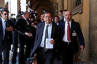 Il Senatore Antonio Azzolini arriva alla Giunta assediato dai media<br /> Roma 18-06-2015 Senato, Sant'Ivo alla Sapienza. Giunta per la Immunita' Parlamentari. Audizione del Senatore Azzolini in merito al crac della Casa Divina Provvidenza.<br /> Photo Samantha Zucchi Insidefoto