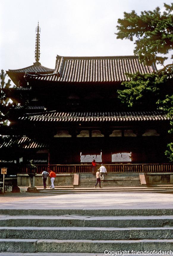 Nara: Horyuji--Middle Gate. Photo '82.