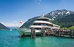 Austria, Tyrol, Pertisau at Achen Lake: starting point for a lake cruise | Oesterreich, Tirol, Pertisau: Schiffsanlegestelle fuer die Seenrundfahrt