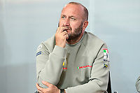17th March 2021; Waitemata Harbour, Auckland, New Zealand;  Max Sirena - skipper of Luna Rossa Prada Pirelli.<br />