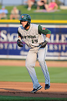 Fort Wayne TinCaps outfielder Alberth Martinez (14) during a game against the Great Lakes Loons on August 19, 2013 at Dow Diamond in Midland, Michigan.  Great Lakes defeated Fort Wayne 12-5.  (Mike Janes/Four Seam Images)
