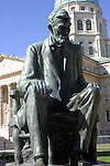 Statue of Abraham Lincoln at Kansas Capitol Building