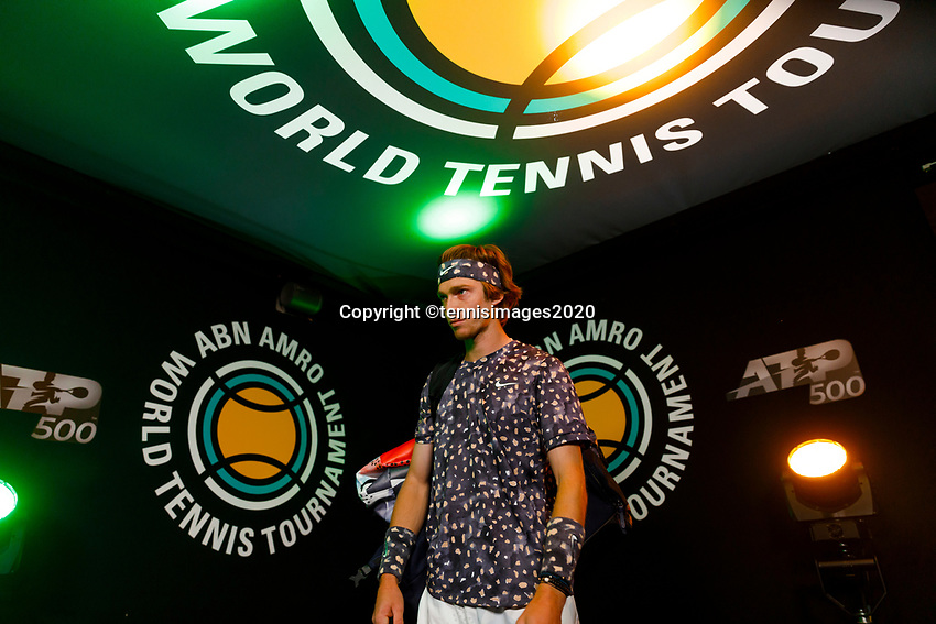 Rotterdam, The Netherlands, 9 Februari 2020, ABNAMRO World Tennis Tournament, Ahoy, Andrey Rublev (RUS).<br /> Photo: www.tennisimages.com