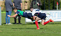 Saturday 26th September 2020 | Malone vs Ballynahinch<br /> <br /> Aaron Cairns dives in to score the first try for Ballynahinch during the Ulster Senior League fixture between Malone and Ballynahinch at Gibson Park, Belfast, Northern Ireland. Photo by John Dickson / Dicksondigital