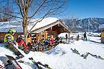 Deutschland, Bayern, Chiemgau, Inzell: Skihuette am Kessel-Lift | Germany, Upper Bavaria, Chiemgau, Inzell: ski hut at Kessel ski lift