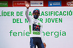 Egan Bernal (COL) Ineos Grenadiers retains the young riders White Jersey at the end of Stage 5 of La Vuelta d'Espana 2021, running 184.4km from Tarancón to Albacete, Spain. 18th August 2021.    <br /> Picture: Luis Angel Gomez/Photogomezsport   Cyclefile<br /> <br /> All photos usage must carry mandatory copyright credit (© Cyclefile   Luis Angel Gomez/Photogomezsport)