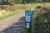 Quiet Lane sign, Longridge, Lancashire.