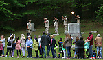 THOMASTON, CT - 26 MAY - 052818JW08.jpg --  American Legion Post 22 Honor Guard fire a salute during the ceremony at Hillside Cemetery Saturday morning as part of the Thomaston Memorial Day remeberance. Jonathan Wilcox Republican-American