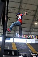 BOGOTA - COLOMBIA - 13 - 08 - 2017: Dilan Molina, Skater de Costa Rica, durante competencia en el Primer Campeonato Panamericano de Skateboarding, que se realiza en el Palacio de los Deportes en la Ciudad de Bogota. / Dilan Molina, Skater from Costa Rica, during a competitions in the First Pan American Championship of Skateboarding, that takes place in the Palace of Sports in the City of Bogota. Photo: VizzorImage / Luis Ramirez / Staff.