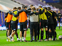 2nd October 2020; St Andrews Stadium, Coventry, West Midlands, England; English Football League Championship Football, Coventry City v AFC Bournemouth; AFC Bournemouth players in a team huddle during the warm up