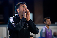 SAN JOSE, CA - MAY 22: Guido Bonini Assistant Coach of the San Jose Earthquakes shouts directions during a game between San Jose Earthquakes and Sporting Kansas City at PayPal Park on May 22, 2021 in San Jose, California.