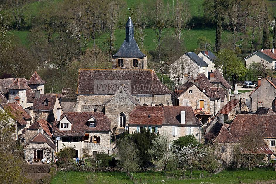 Europe/Europe/France/Midi-Pyrénées/46/Lot/Rignac: le village sur le Causse de Gramat