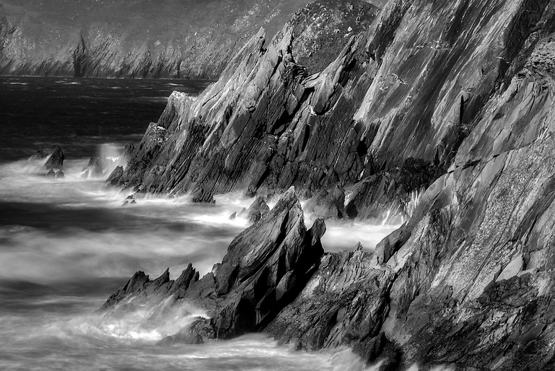 Rocky shoreline at Clogher's Beach.County Kerry, Ireland