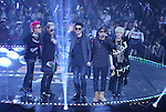 """Dynamic Duo and Block.B, Jul 24, 2014 : South Korean boy band Dynamic Duo (3rd L, 4th L) and Block.B perform at the 10th anniversary live special of weekly music chart show, """"M! Countdown"""" of Mnet in Goyang, north of Seoul, South Korea. (Photo by Lee Jae-Won/AFLO) (SOUTH KOREA)"""