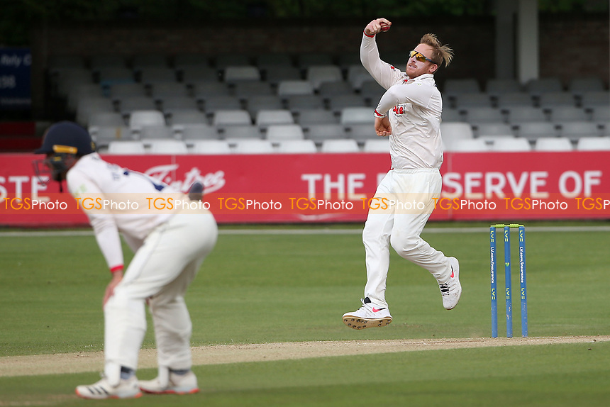 Simon Harmer in bowling action for Essex during Essex CCC vs Nottinghamshire CCC, LV Insurance County Championship Group 1 Cricket at The Cloudfm County Ground on 6th June 2021