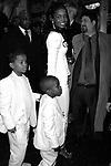 Kim Porter with her sons Christian and Justin<br />