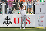 Carlos Pigem of Spain tees off the first hole during the 58th UBS Hong Kong Golf Open as part of the European Tour on 10 December 2016, at the Hong Kong Golf Club, Fanling, Hong Kong, China. Photo by Marcio Rodrigo Machado / Power Sport Images