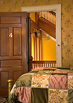 Peter Herdic Inn. Bedroom with hallway and staircase