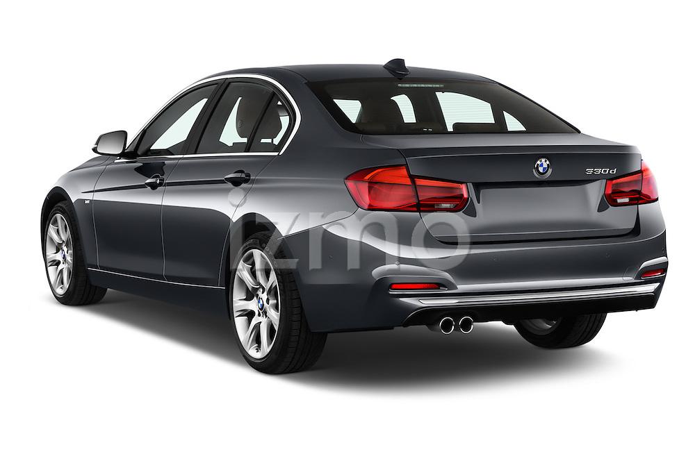 Car pictures of rear three quarter view of 2016 BMW 3 Series Luxury 4 Door Sedan Angular Rear